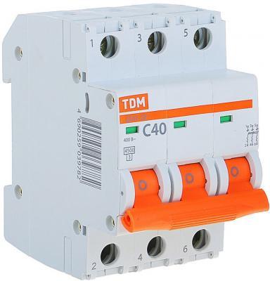 Автомат TDM SQ0206-0113 ВА47-29 3р 40А 4.5ка х-ка С автомат tdm sq0204 0014