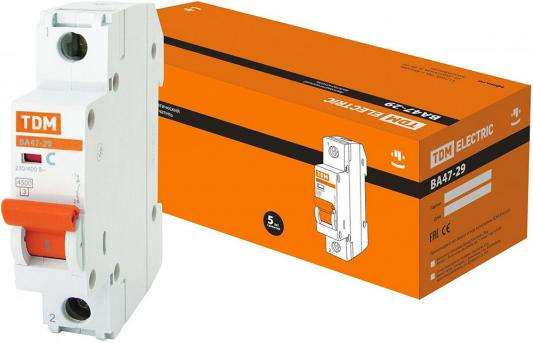 Автомат TDM SQ0206-0076 ВА47-29 1р 25А 4.5ка х-ка С автоматический выключатель tdm ва47 100 2р 25а 10ка d sq0207 0015