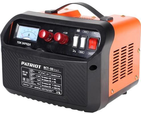 Устройство пуско-зарядное PATRIOT BCT- 50 Start 220В±15% 1700Вт 12/24В 50/260А 60-550А/ч 10.7кг пускозарядное устройство patriot bct 30 start