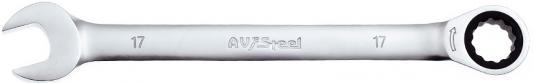 Ключ AVSTEEL AV-315017 комб с трещоткой 17мм ключ avsteel av 315007 комб с трещоткой 7мм