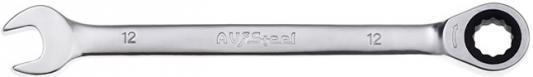 Ключ AVSTEEL AV-315012 комб с трещоткой 12мм ключ avsteel av 315007 комб с трещоткой 7мм
