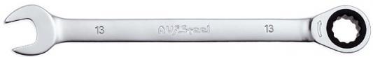 Ключ AVSTEEL AV-315013 комб с трещоткой 13мм ключ avsteel av 315007 комб с трещоткой 7мм