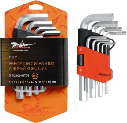 Набор ключей AIRLINE AT-9-20 9 предметов (1.5.2.2.5.3.4.5.6.8.10мм) пласт.подвес набор инструмента airline at 11 13