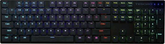Клавиатура проводная Tesoro GRAM XS USB черный (TS-G12ULP) клавиатура проводная tesoro gram spectrum bk bl usb черный ts g11sfl b bl