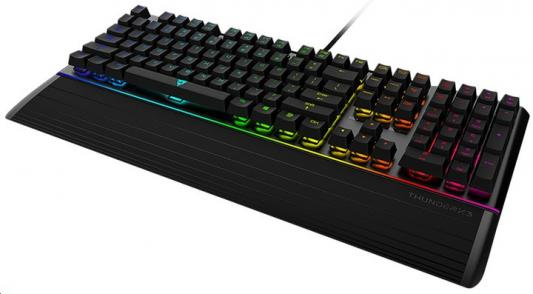 Клавиатура ThunderX3 AK7, механическая игровая, свичи blue, с RGB подсветкой rk royal kludge rg928 с подсветкой механическая клавиатура белый свет зеленая ось черный версия