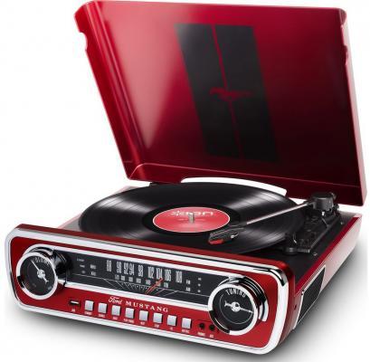 цена на Виниловый проигрыватель ION MUSTANG LP с радио [red]