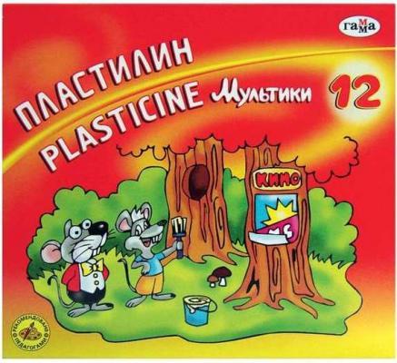 Пластилин МУЛЬТИКИ со стеком, 12 цв., 240 г|2 цена 2017
