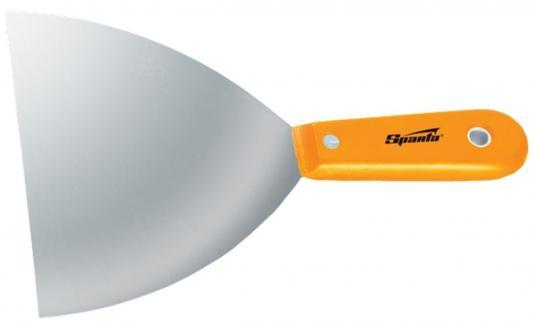 Шпатель SPARTA 852425 лопатка стальная 100мм полированная пластмассовая ручка шпатель sparta 858275