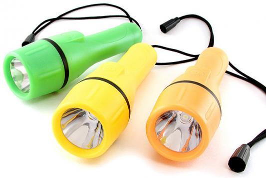 Фонарь ЯРКИЙ ЛУЧ Е1-206 Поплавок обрезиненный водонепроницаемый корпус, светодиод 1W, на 2xAA фонарь яркий луч la 1w светодиодный желтый