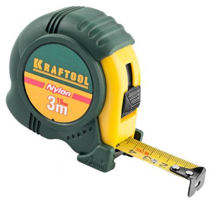 Рулетка Kraftool 34122-03-19_z01 3мx19мм рулетка kraftool pro 34127 05 27