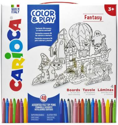 Набор для рисования CARIOCA COLOR&PLAY, Fantasy, 52 предмета pink fantasy color basic chiffon top