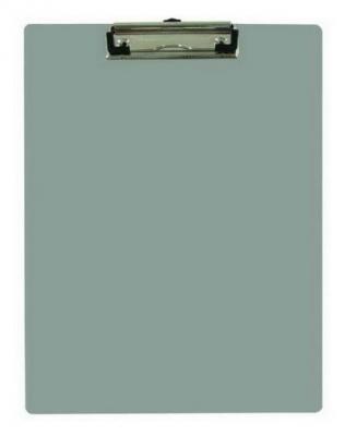 Клип-борд METALLIC, двойной, ф.А4, пластик, серый