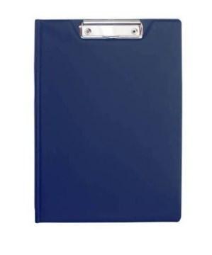 Клип-борд двойной, ф. А4, PVC, темно-синий клип борд а4 metallic пластик темно синий icb01 bu
