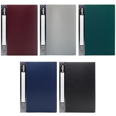 Папка с 20 файлами SATIN, форзац, ф.A4, 0,55мм, ассорти, динамичная упаковка папка с 20 файлами форзац ф а4 ассорти sdb20 ass spec 1