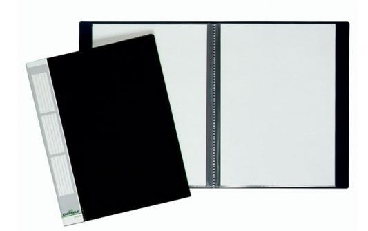 цена на Папка с 20 файлами DURALOOK, ф.A4, форзац 17 мм, черная