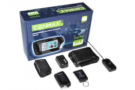 Автосигнализация Cenmax Vigilant V12-D с обратной связью брелок с ЖК дисплеем охранная система cenmax vigilant st10 d
