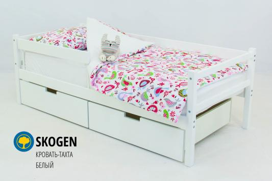 Купить Кровать-тахта Бельмарко Skogen (белый), БЕЛЬМАРКО, массив сосны, Классические кровати