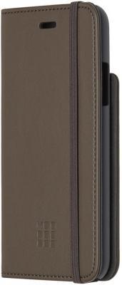 Чехол-книжка Moleskine MO2CBPXP14 для iPhone X коричневый накладка moleskine monopoly icons для iphone x чёрный рисунок mo2chpxlemob