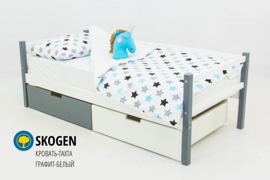 Кровать-тахта Бельмарко Skogen (графит-белый)