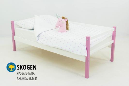 Купить Кровать-тахта Бельмарко Skogen (лаванда-белый), БЕЛЬМАРКО, массив сосны, Классические кровати