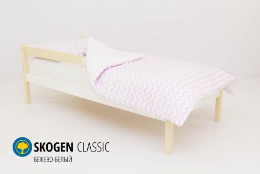 Кровать Бельмарко Skogen Classic (бежево-белый)