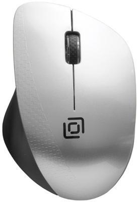лучшая цена Мышь Oklick 695MW черный/серебристый оптическая (1000dpi) беспроводная USB (3but)