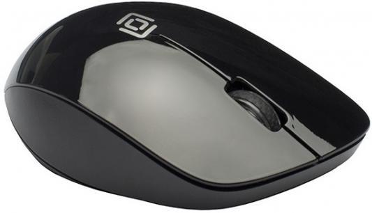лучшая цена Мышь Oklick 695MW черный оптическая (1000dpi) беспроводная USB (3but)