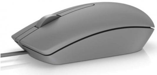 Мышь проводная DELL MS116 серый USB цена