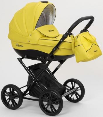 Коляска для новорожденного Mr Sandman Rustle (100% эко-кожа/жёлтый/08) коляска mr sandman guardian 2 в 1 фиолетовый kmsg 043614