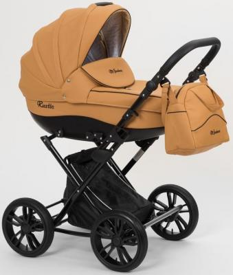 Коляска для новорожденного Mr Sandman Rustle (100% эко-кожа/охра коричневая/10) коляска mr sandman guardian 2 в 1 графит серый kmsg 043601