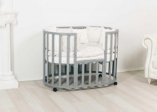 Кровать Incanto Uoma Da Vinci 10 в 1 серый элит кровать incanto uoma da vinci 10 в 1 слоновая кость