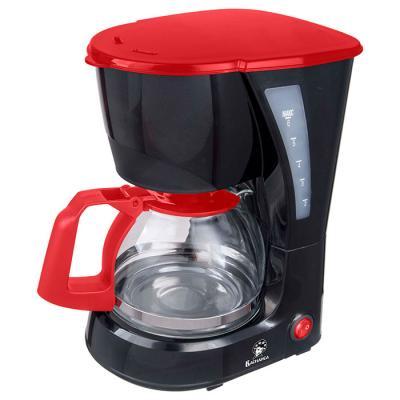 Кофеварка Василиса КВ1-600 черный с красным