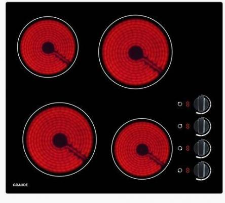 Встраиваемые электрические панели Graude/ 590 х 52 х 520 мм, Функция таймера, Индикация нагрева, Индикация красного цвета, Автоматическое отключение, Исполнение: без рамки,