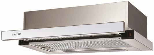 Встраиваемые вытяжки Graude/ 595 х 194 х 489 мм, Управление Classic Control,Производительность: 550 м3/ч,Уровень шума: 64 дБ,Мотор Profi Fan, 2 х 3-слойный алюминиевый фильтр,Декоративная панель из белого стекла,Материал: 430 нержавеющая сталь