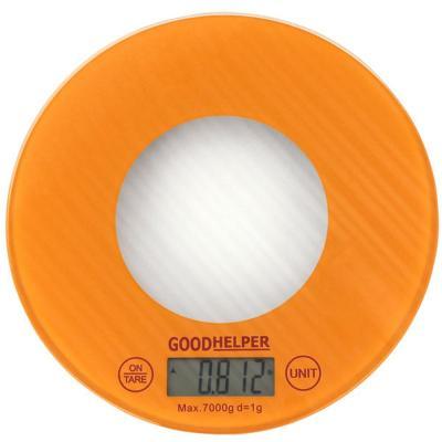 Весы кухонные Goodhelper KS-S03 оранжевый мультиварка goodhelper c202