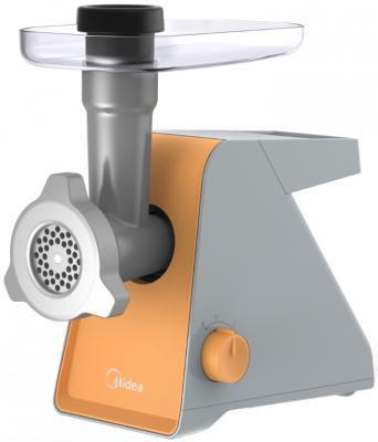 Электромясорубка Midea MG-2762 800 Вт серебристый оранжевый