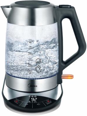 Чайник электрический Midea MK-8005 2200 Вт чёрный брашированная сталь 1.7 л стекло чайник midea mk 8047