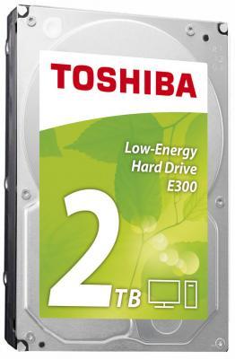 """Жесткий диск Toshiba SATA-III 2Tb HDWA120EZSTA E300 (5700rpm) 64Mb 3.5"""" Rtl цена и фото"""