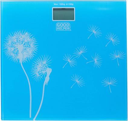 Весы напольные Goodhelper BS-S40 голубой рисунок