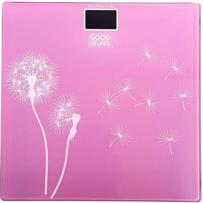 Весы напольные Goodhelper BS-S40 розовый рисунок