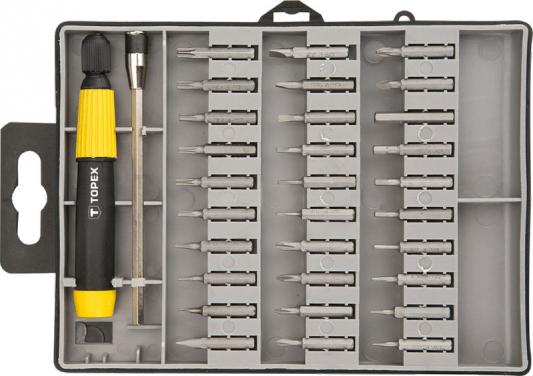 Набор бит TOPEX 39D555 прецизионные с держателем 32шт.