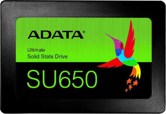 Твердотельный накопитель SSD 2.5 480 Gb A-Data Ultimate SU650 Read 520Mb/s Write 450Mb/s 3D NAND ASU650SS-480GT-R