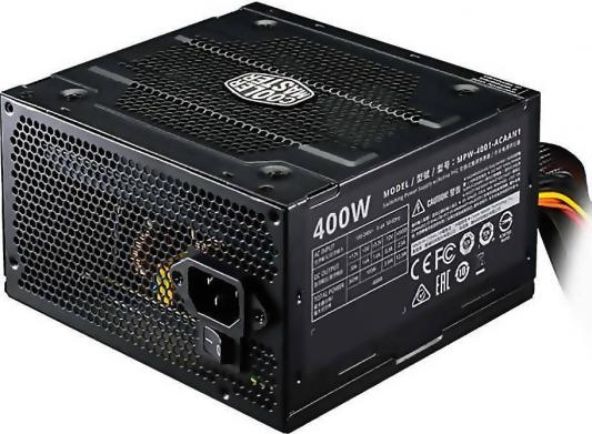 Power Supply Cooler Master Elite V3 400, 400W, ATX, 120mm, 3xSATA, 1xPCI-E(6+2), APFC ltc lc 400 24 waterproof ac 180 250v to dc 24v 16 6a 400w switching power supply silver