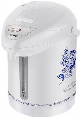 Термопот Lumme LU-3831 750 Вт белый рисунок 2.5 л металл/пластик термопот lumme lu 299 gold black