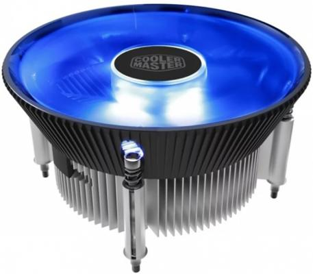 Cooler Master CPU Cooler I70C PWM, Intel 115*, 95W, AlCu, Blue LED fan, 4pin universal silver 30 row transmission 10an oil cooler kit 7 inch electric fan