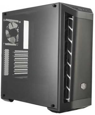 Cooler Master MasterBox MB511, 2xUSB3.0, 1x120 Fan, w/o PSU, Black, White Trim, Mesh Front Panel, ATX 12v 3pin 120mmx120mmx25mm silen t computer cpu cooler small cooling fan pc black heat sink