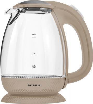 Чайник электрический Supra KES-2172 beige 2200 Вт бежевый 1.7 л пластик/стекло supra kes 1720 grey