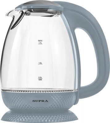 Чайник электрический Supra KES-2172 grey 2200 Вт серый 1.7 л пластик/стекло обогреватель supra tvs 220f 2 светло серый