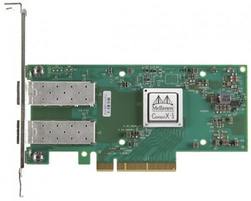 ConnectX®-5 EN network interface card, 25GbE dual-port SFP28, PCIe3.0 x8, tall bracket, ROHS R6 сетевой адаптер mellanox connectx 3 pro en network interface card 10gbe single port sfp pcie3 0 x8 8gt s tall bracket rohs r6 mcx311a xcct