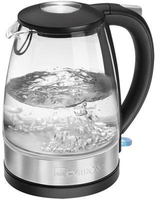 Чайник электрический Clatronic WKS 3680 G inox 2200 Вт Нержавеющая сталь прозрачный 1.7 л стекло чайник clatronic wk 3501 g 2200 вт прозрачный 1 7 л металл стекло